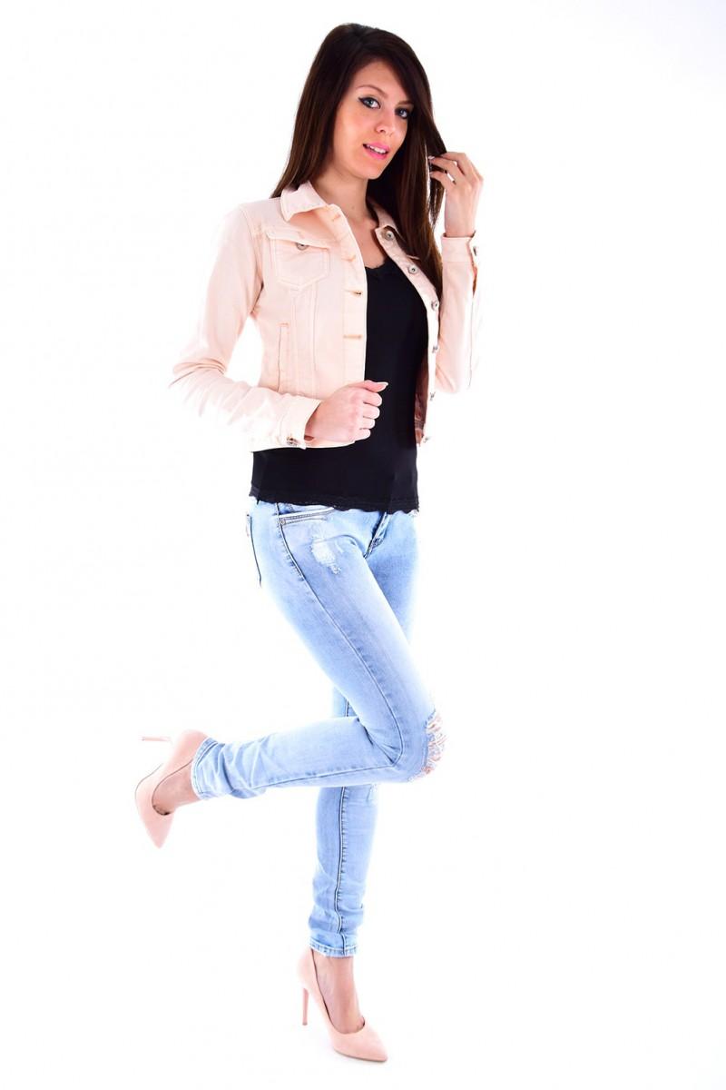 Veste en jean femme petit prix