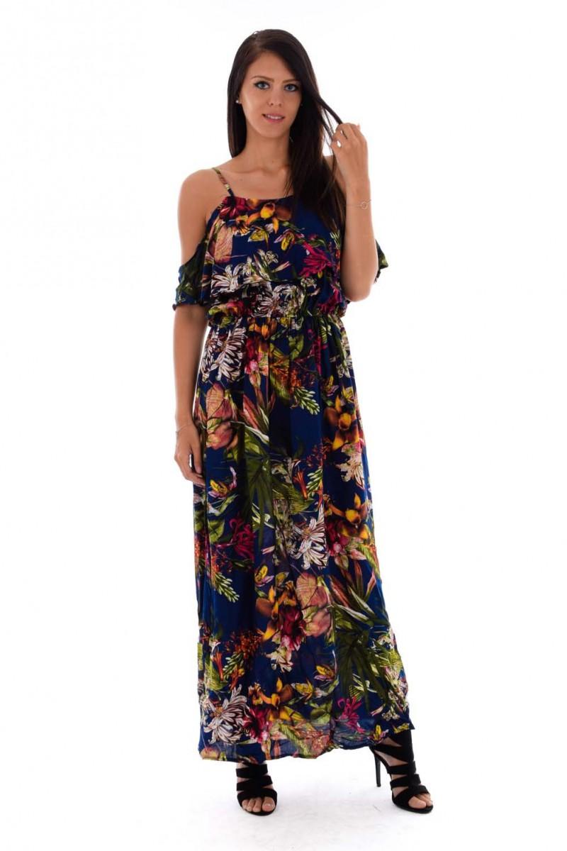 robe longue fleurs cinelle boutique. Black Bedroom Furniture Sets. Home Design Ideas