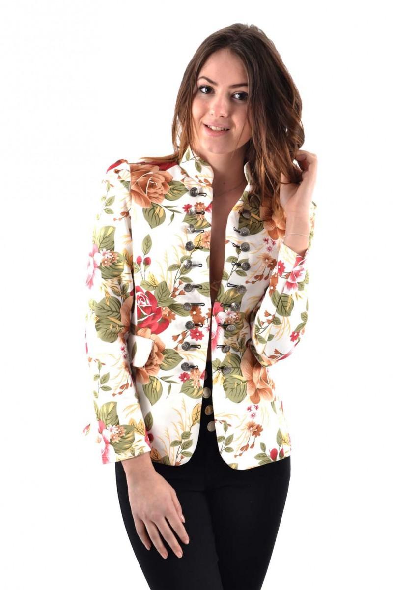 8cf2676db120d Veste à fleurs - Cinelle boutique vêtements tendances à petits prix