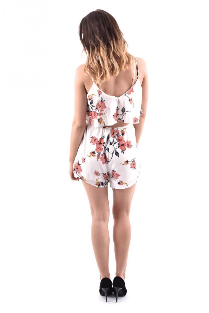 cc5c831e87f Combishort fleurs - Cinelle boutique vêtements tendances à petits prix