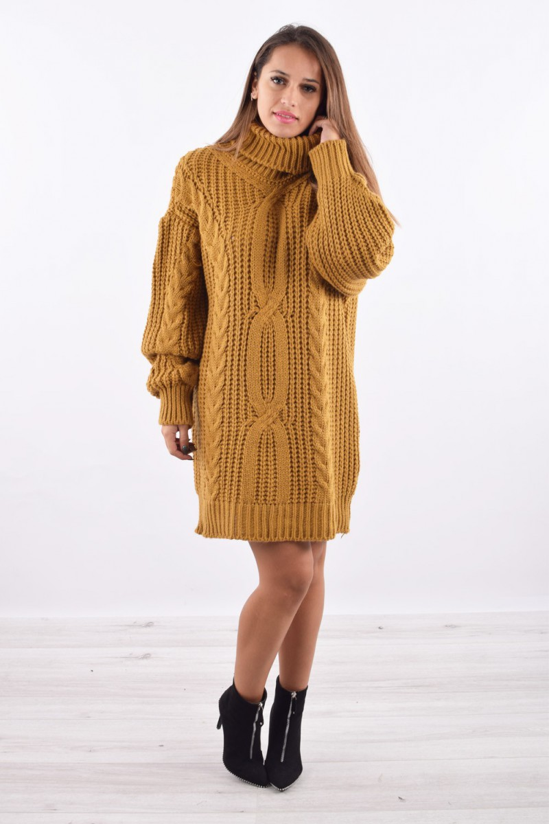 Roulé Cinelle Pull Petits Femme Robe Col Mode Prix Boutique Site OqEStn