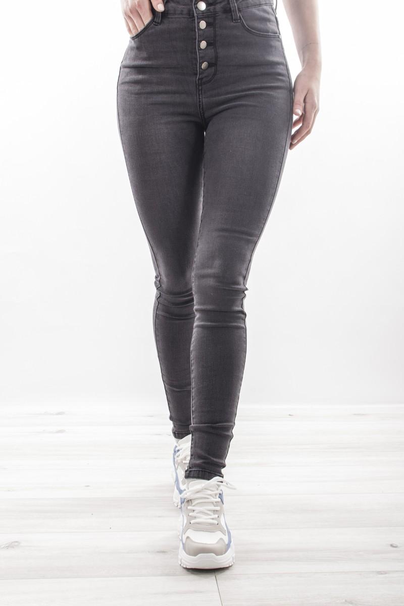 jean skinny gris taille haute cinelle boutique. Black Bedroom Furniture Sets. Home Design Ideas