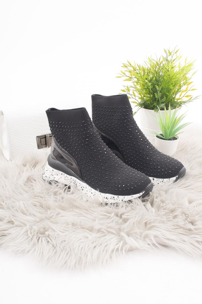 Baskets chaussettes strass semelles épaisses Cinelle Boutique