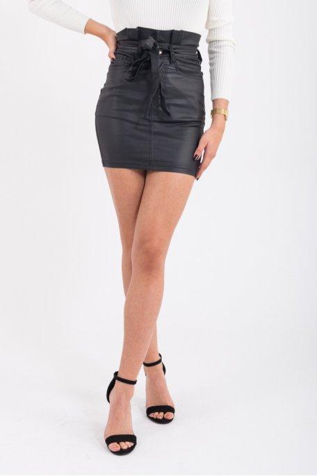 Mini jupe enduit