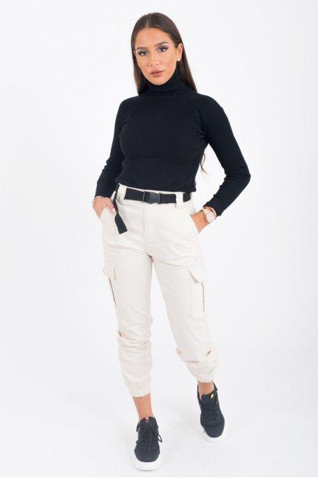 Pantalon cargo ceinture