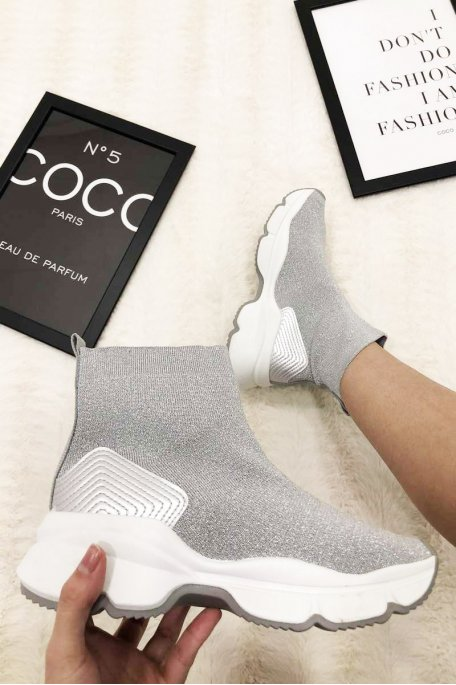 Baskets style chaussettes