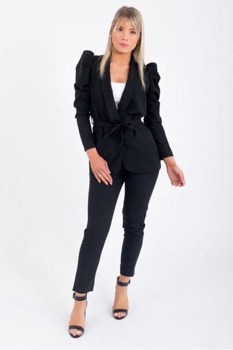 Ensemble tailleur veste et pantalon noir