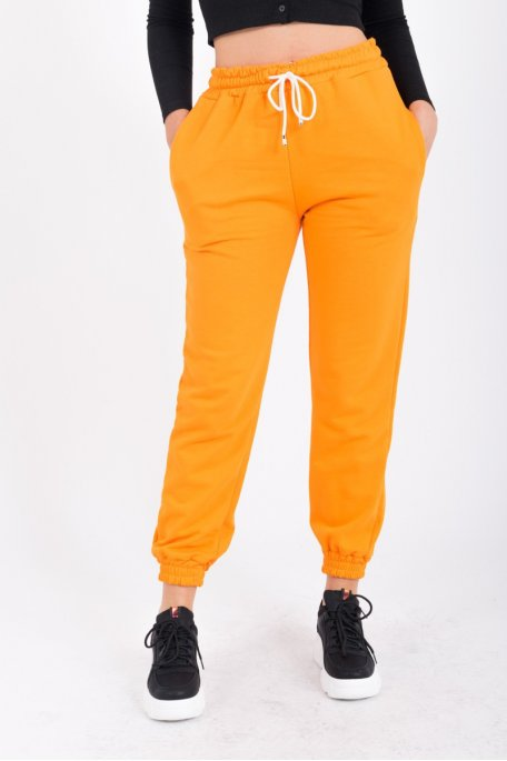 Pantalon orange jogging