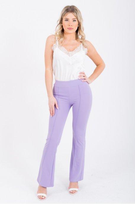 Pantalon flare violet