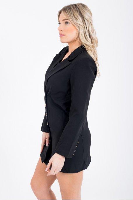 Robe blazer noire style officier