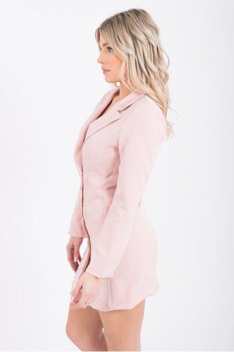 Robe blazer rose style officier