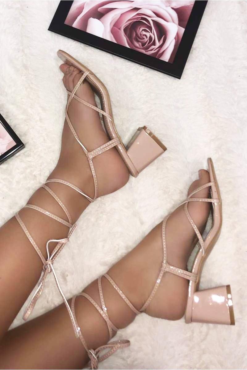 Sandales à talon Python Cinelle Boutique