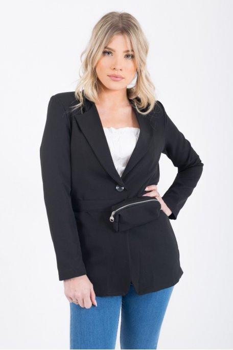 Veste blazer noire sacoche