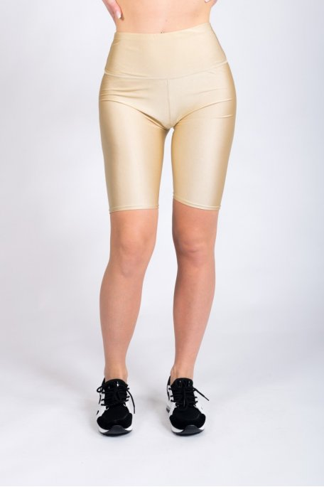 Short cycliste beige