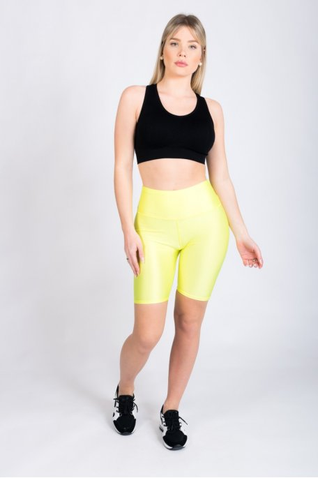 Short cycliste jaune