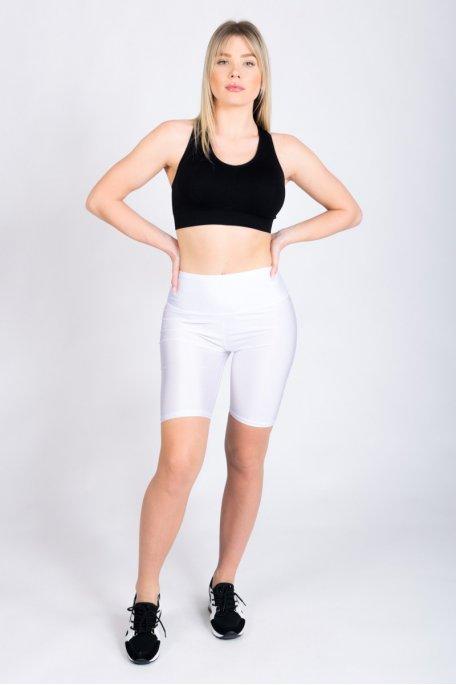 Short cycliste blanc