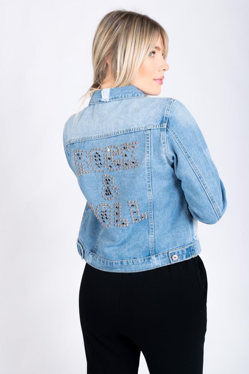 Veste en jean déchirée Rock & Roll Cinelle Boutique