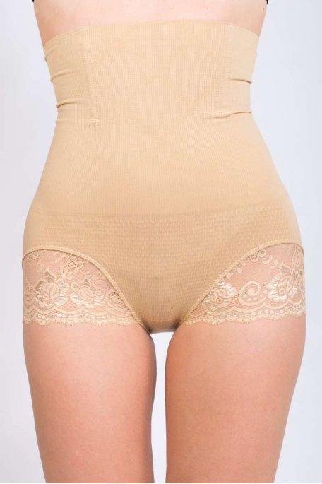 Gaine culotte beige amincissante remonte-fesses