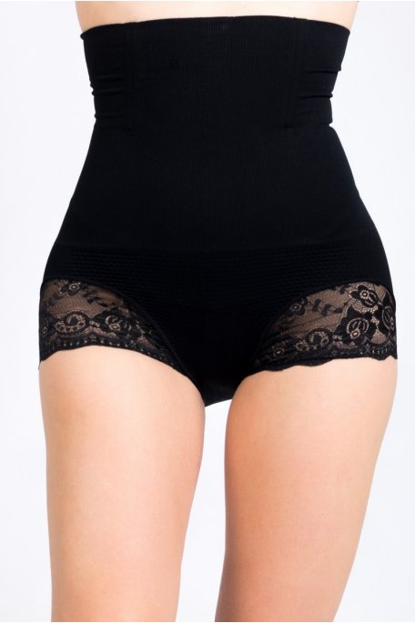 Gaine culotte noire amincissante remonte-fesses