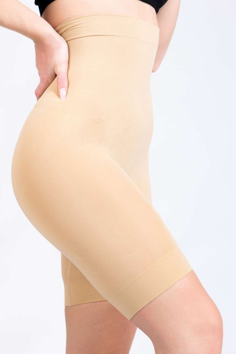 Gaine shorty beige ventre plat et remonte fesses