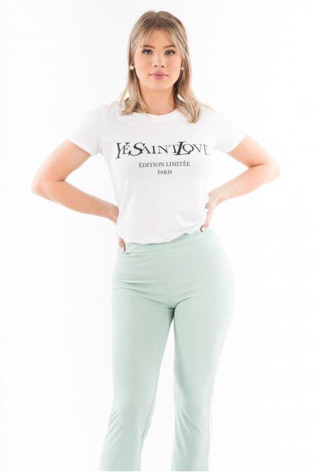 Tee-shirt blanc Yves Saint Love