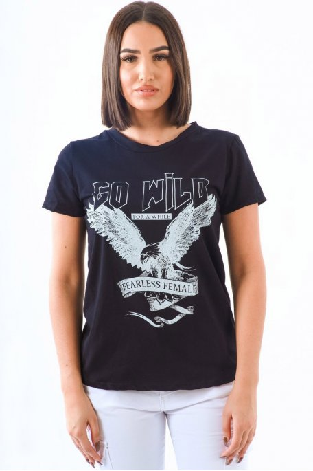 Tee-shirt noir aigle