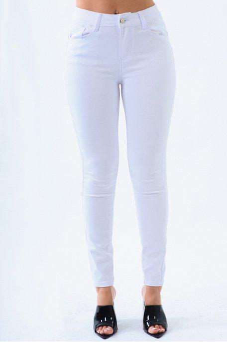 Jean blanc basique effet push-up