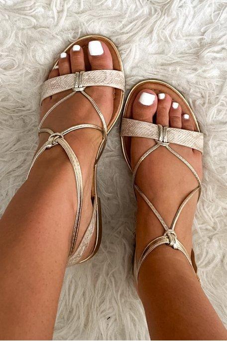 Sandales dorée