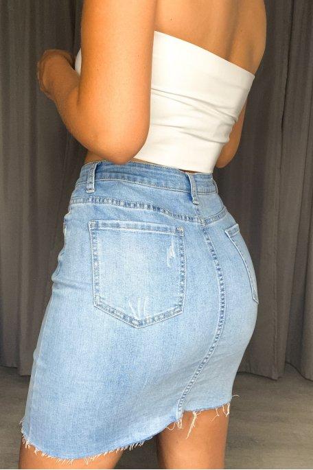 Jupe jean bleu