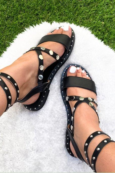 Sandales noire cloutées