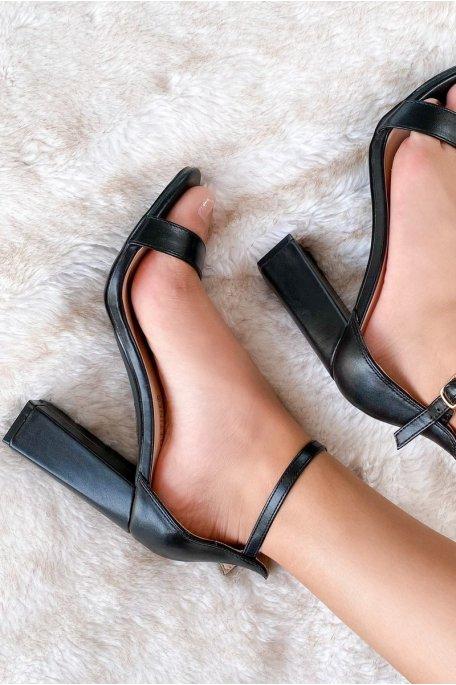 Sandales talon  noir
