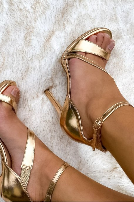 Sandales à talons or