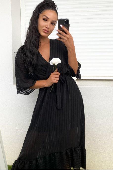 Robe longue noir volant