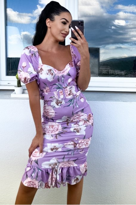 Robe fleurie violet