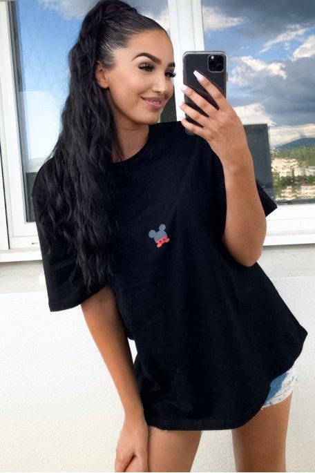 Tee-shirt noir Mickey