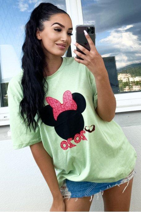 Tee-shirt vert Mickey 2020