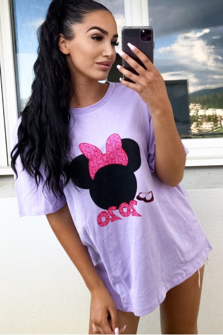 Tee-shirt violet Mickey  2020