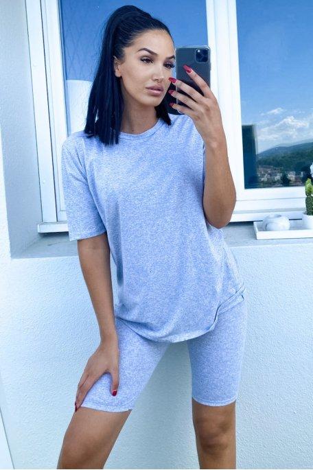 Ensemble gris tee-shirt shorty