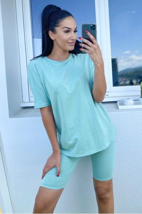 Ensemble vert tee-shirt shorty