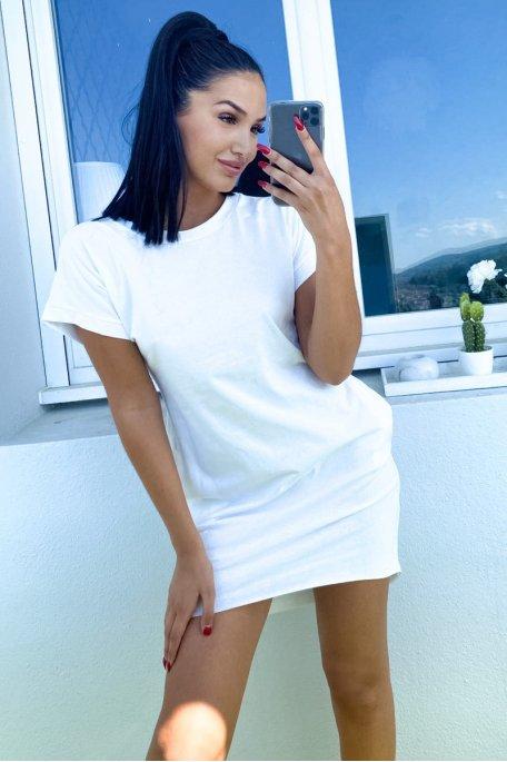 Robe tee-shirt blanche