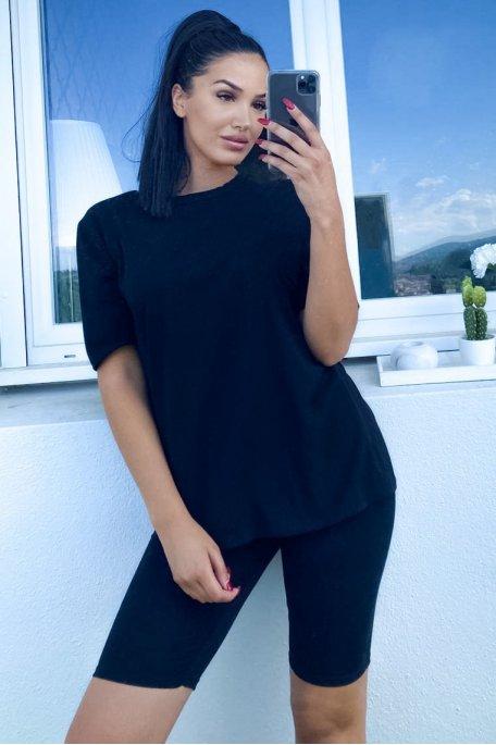 Ensemble noir tee-shirt shorty