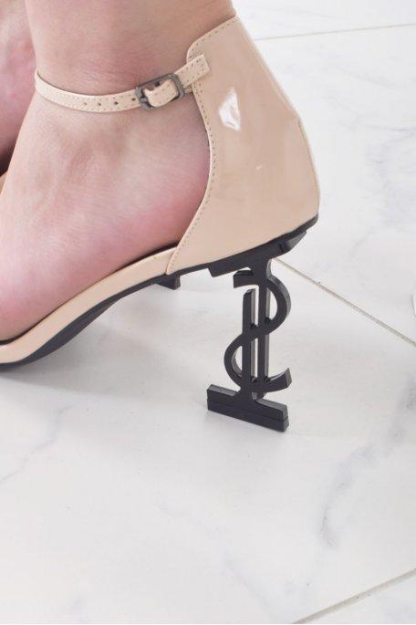 Sandales à talons dollars nudes