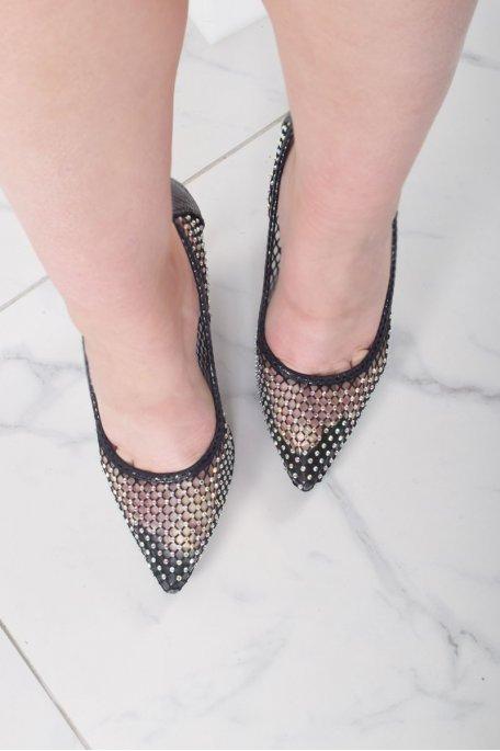 Escarpins diamants noirs