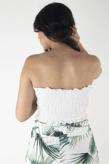 Bandeau froufrou blanc