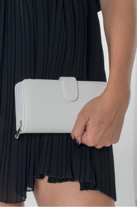 Portefeuille blanc à rabat