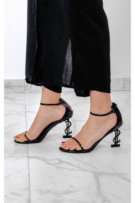 Sandales à talons dollars noires