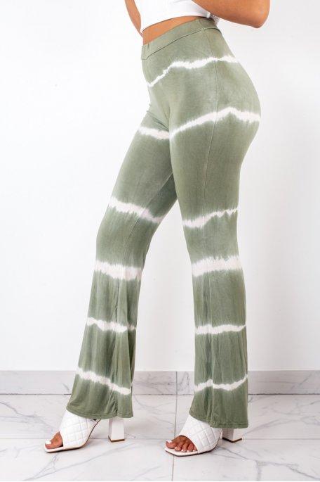 Pantalon fluide dégradé kaki