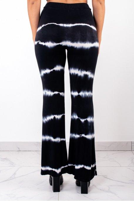 Pantalon fluide dégradé noir