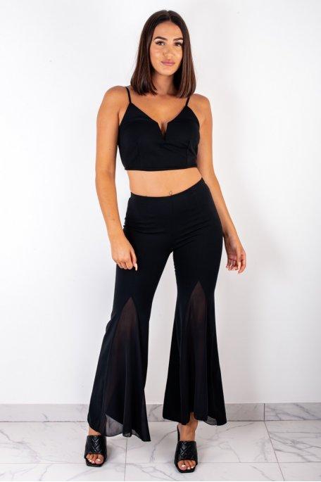 Ensemble brassière pantalon noir