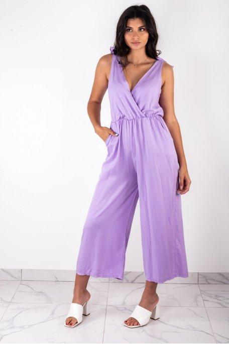 Combinaison sans manche violette